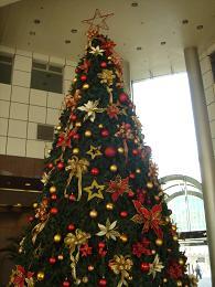 ランドマークビルのクリスマスツリー